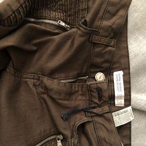 ZARA olive jeans